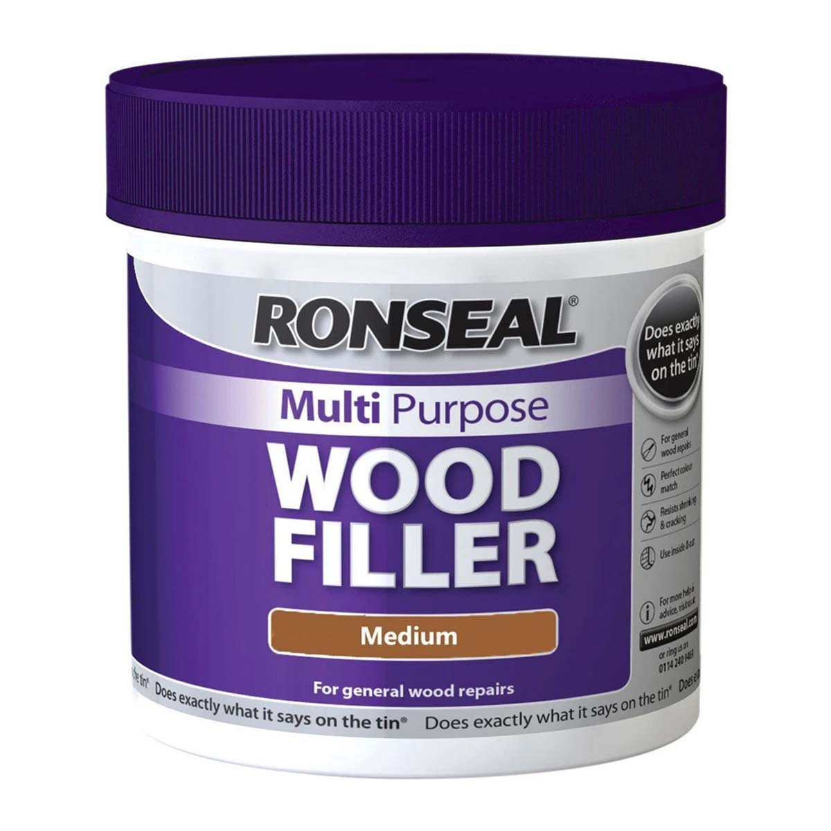 Ronseal Multi Purpose Wood Filler Medium 250G (34737)