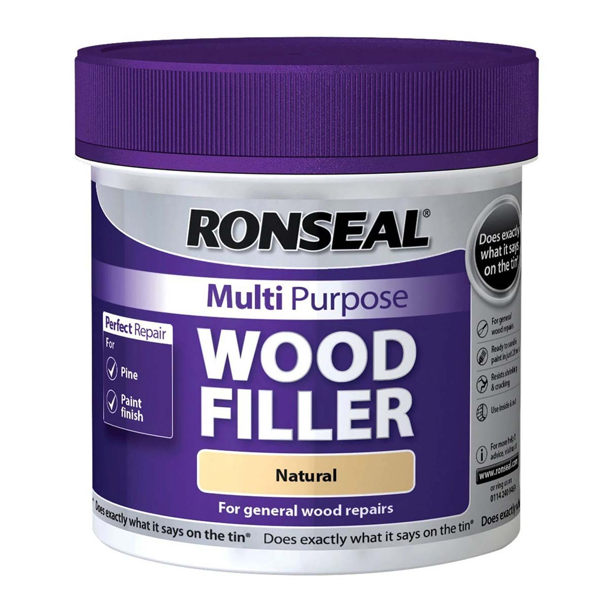 Ronseal Multi Purpose Wood Filler Natural 250G (34735)