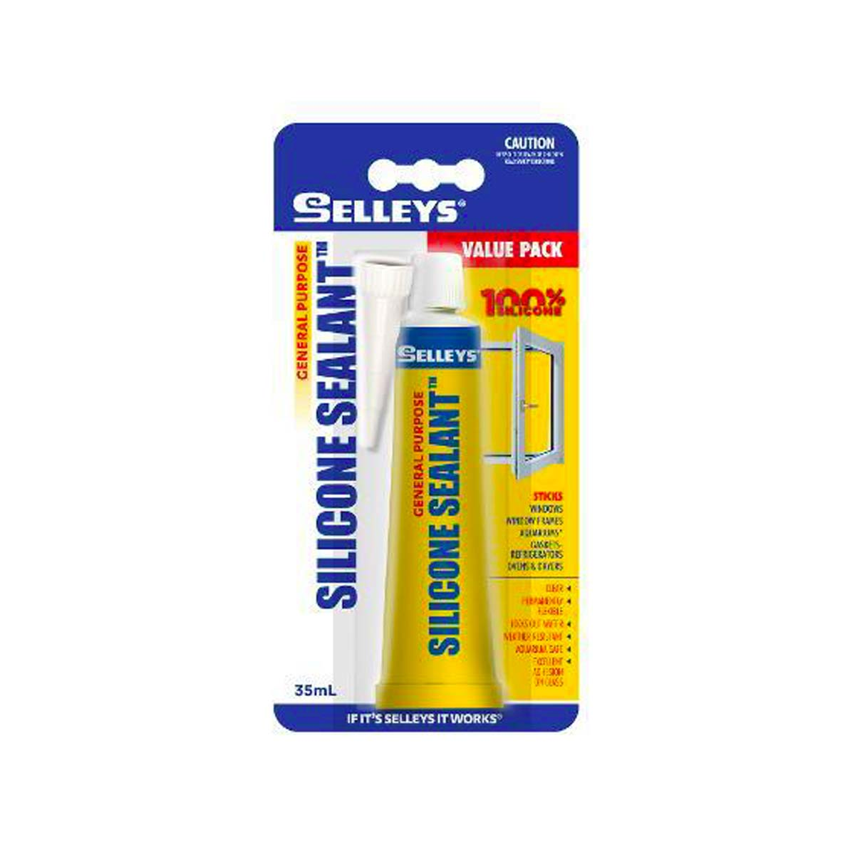 Selleys Silicone Sealant (Clear) 35ml