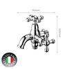 Tuscani Tapware TAT3C - VINTAGE Series Two Way Tap - Cold Taps
