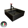 Photo of Wall / Deck Designer Basin - Industrial Designed Matt Black Wall