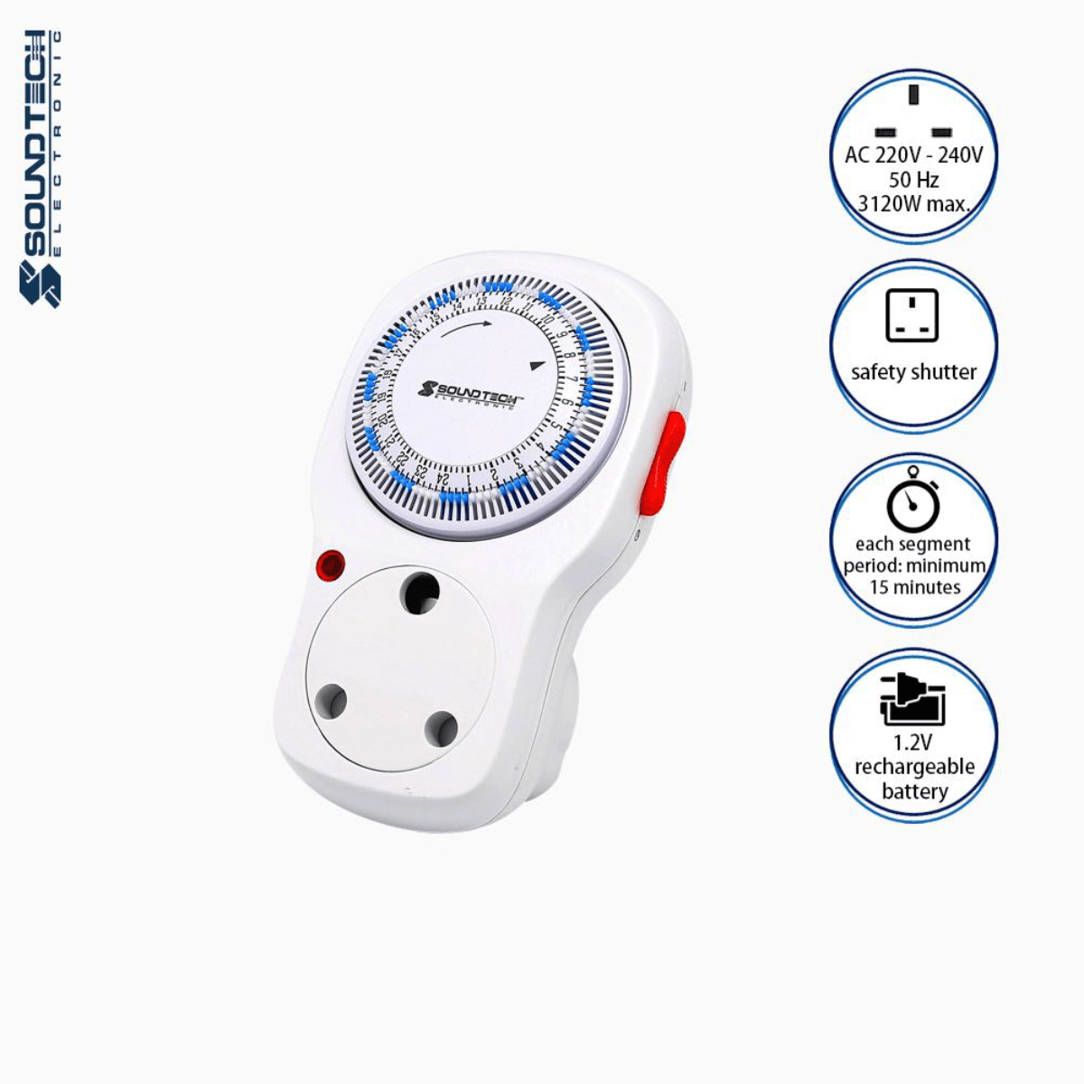 Soundteoh 13A Analogue Timer TSA-D07