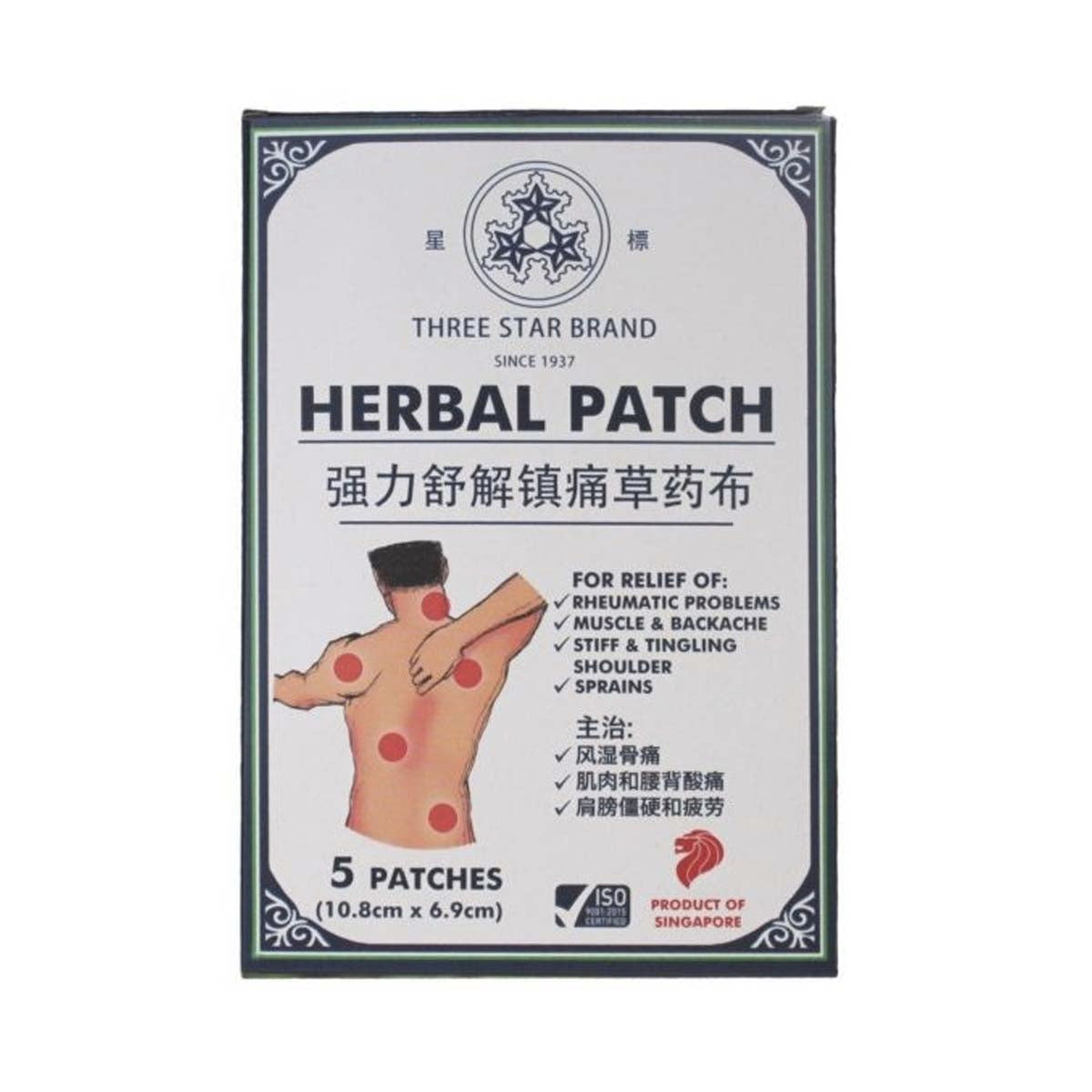 TSB Herbal Medicated Patch (5 patches)