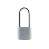 Yale Silver Series Outdoor Brass / Satin Long Shackle Padlock - Boron Shackle (Y120/50/163/1)