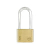 Yale Essential Series Indoor Brass Standard Shackle Padlock - Long Shackle (YE1)
