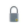 Yale Silver Series Outdoor Brass / Satin Padlock -Boron Shackle (Y120)