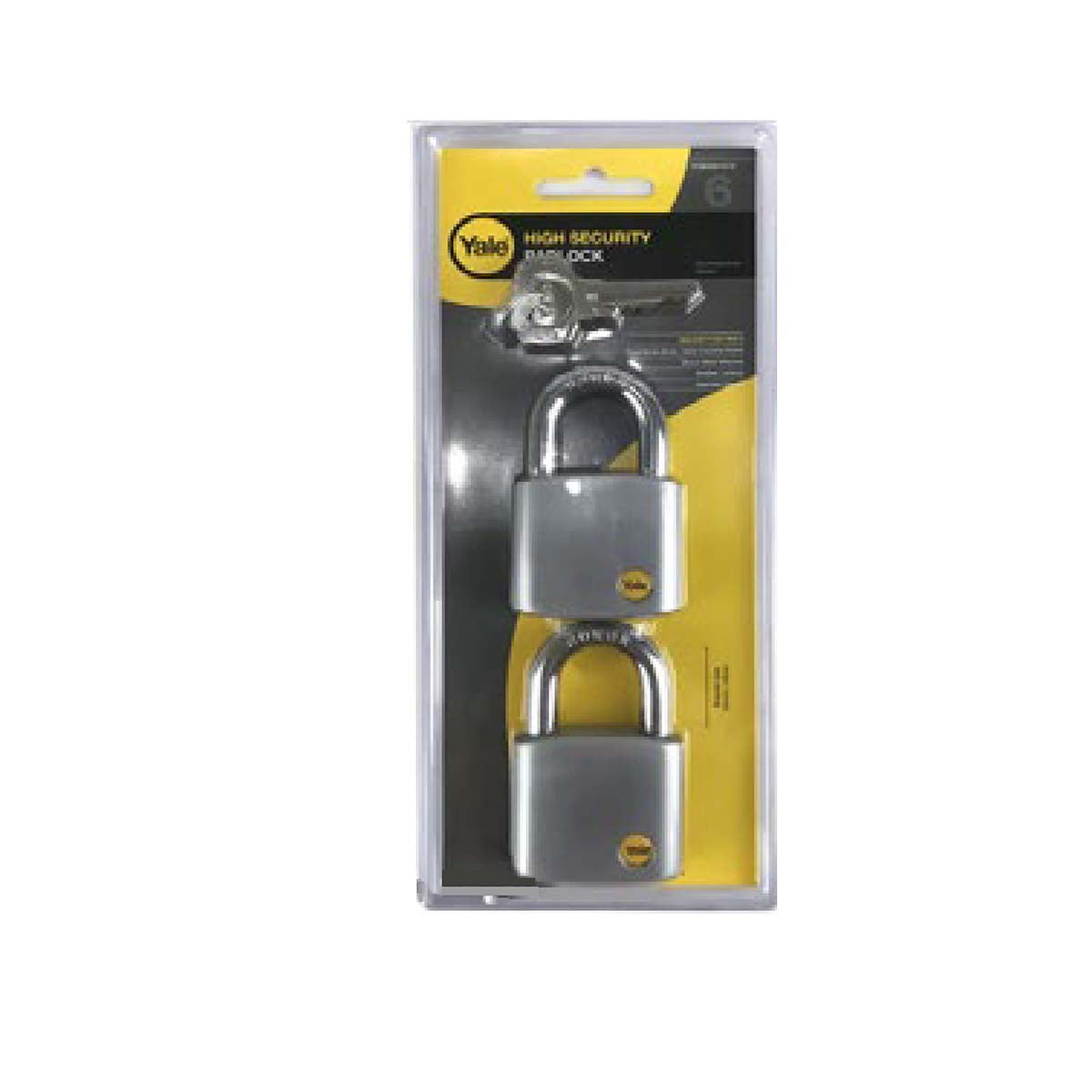 Yale Silver Series Outdoor Brass / Satin Padlock - Boron Shackle 50mm (Y120/50/127/2)