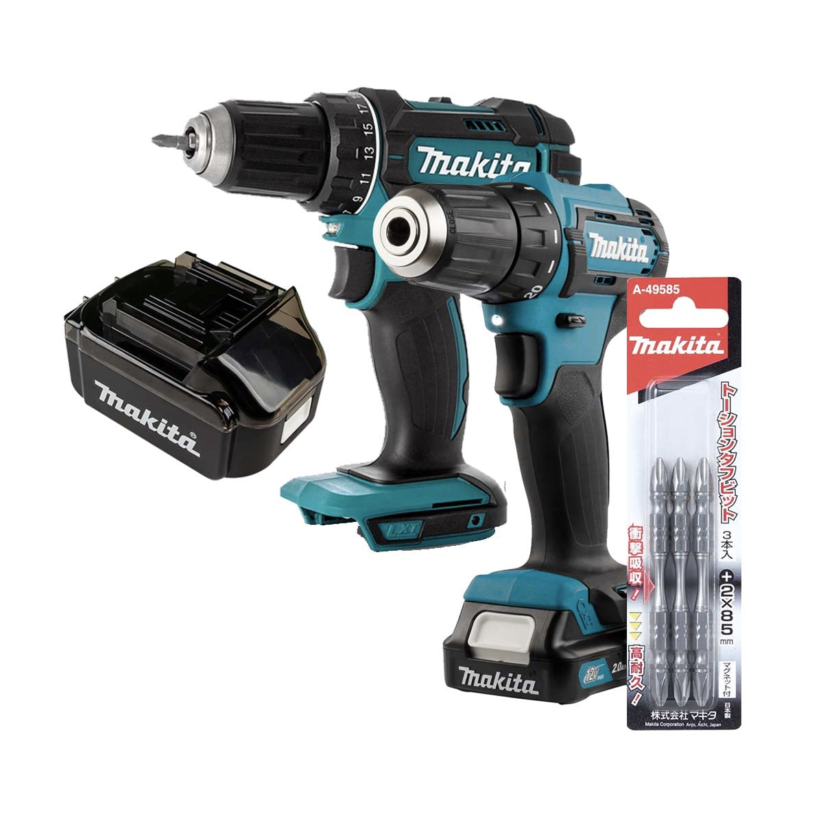 Makita DC Driver Drill 12V (DF333DNX10) - COMBO SET 1