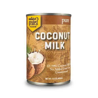 COCONUT MILK - PURE, 13.5 Oz