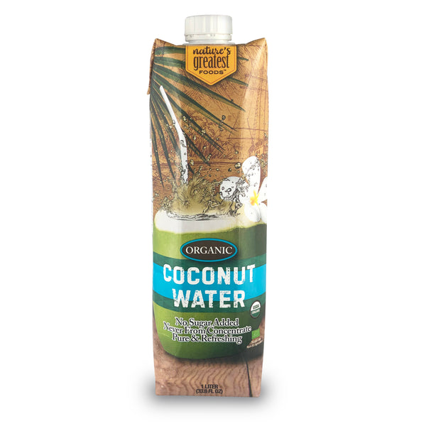 COCONUT WATER - ORGANIC, 33.8 Oz