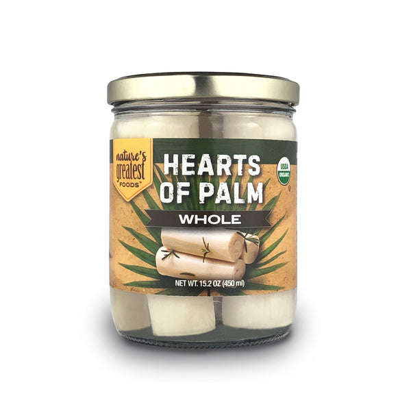 Organic Whole Hearts of Palm, 15.2 Ounce