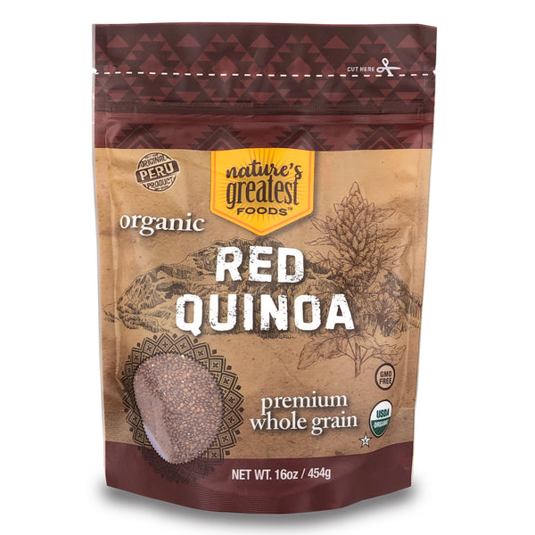 QUINOA RED ORGANIC, 16 Oz