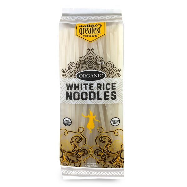 RICE NOODLES WHITE ORGANIC, 7.7 Oz
