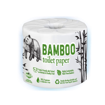 100% Bamboo & Sugarcane Toilet Paper, 2 Ply, 450 Sheets, Single Roll