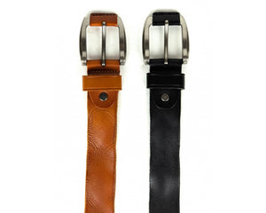 38mm Gun metal Leather Belt