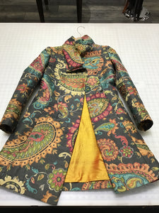 Multicolor silk jacket