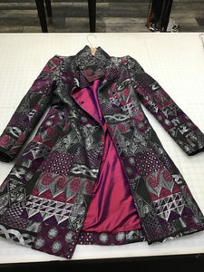 Gray and purple silk jacket
