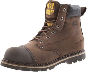 Buckler Safety Lace up Boot with Chocolate Oil Leather