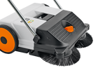 STIHL KG 550 Sweeper close up of the sweeper head