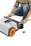 Image shows how the STIHL KG 550 Sweeper can have the handles removed