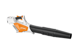 STIHL BGA 57 blower product image showing the blower form the side. The product is white and features black and orange features