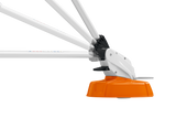 Image shows the STIHL FSA 45 Strimmer and how easy the tool adjustment is to achieve the appropriate angle