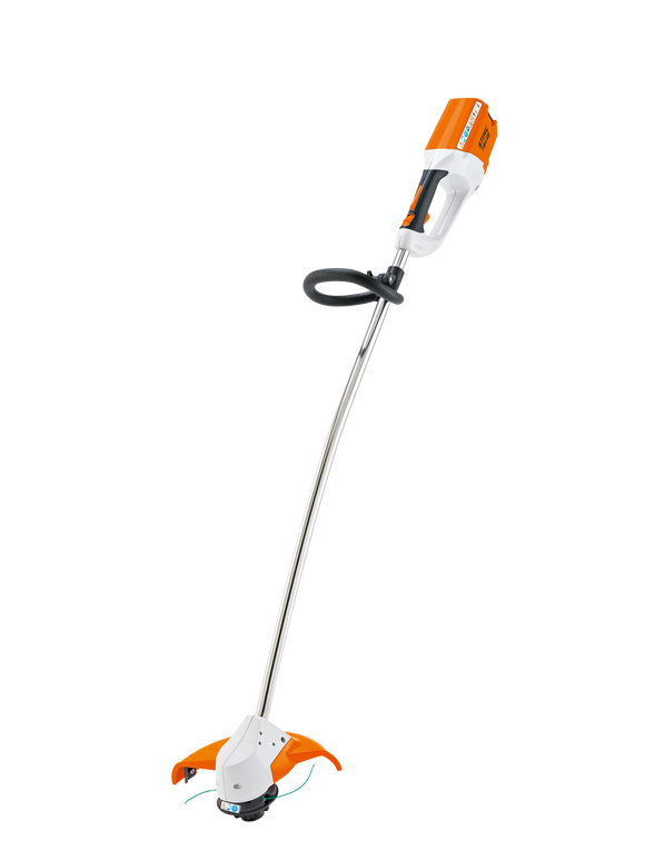The STIHL Battery Powered FSA 65 Strimmer product image on a transparent background. Item has a round handle