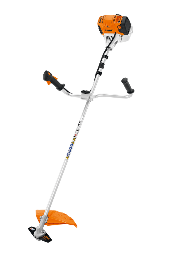 STIHL FS 91 Petrol Brush Cutter product image. The product features a bike handle