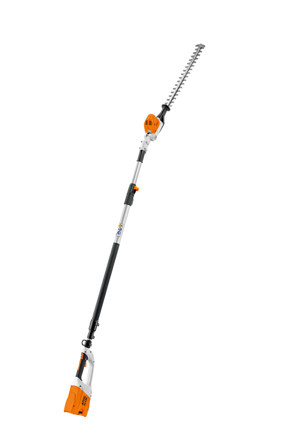 The Battery Powered STIHL HLA 85 Hedge Trimmer product shot on a transparent background.