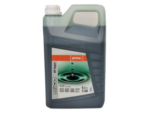 HP SUPER 4-Stroke Engine Oil green liquid in small 100ml bottle with orange and grey label