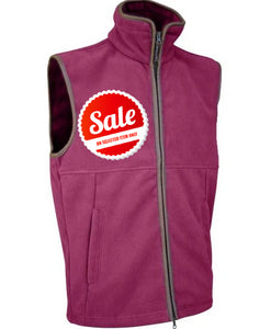 Jack Pyke countryman fleece gilet in roselle pink / burgundy