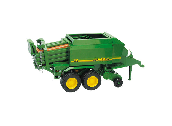 Image of the John Deere big baler toy for children. The toy is the iconic John Deere green