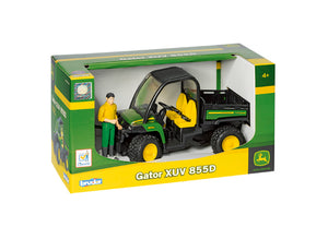 The John Deere Gator XUV 665D 4x4 children's toy in its packaging