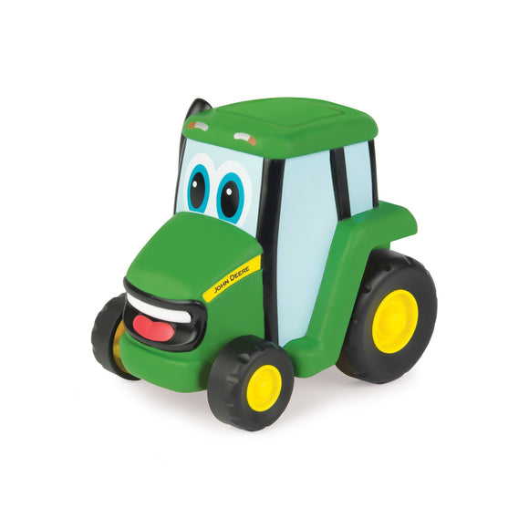 John Deere push and roll toy tractor in green