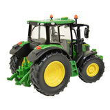 Image of the John Deere 6120M Children's Toy Tractor in classic John Deere green. Image shows the product from the back