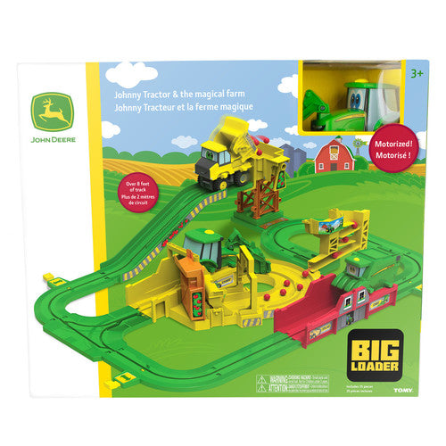 Image shows the John Deere Johnny Tractor big loader playset in the box/packaging