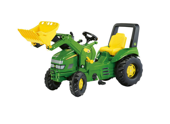 RollyX-Trac John Deere Tractor with Front Loader in classic John Deere Green, with yellow features