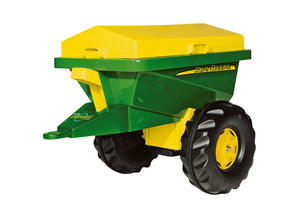 RollySpreader John Deere children's toy in classic john deere green with yellow details