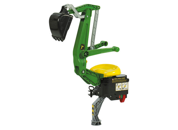 Product image of the John Deere Blackhoe-Loader in classic John Deere green