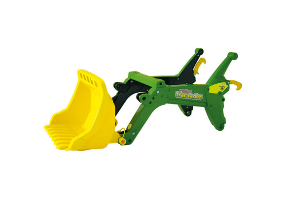 John Deere Front Loader for RollyTrac tractors children's toys in classic John Deere green and yellow