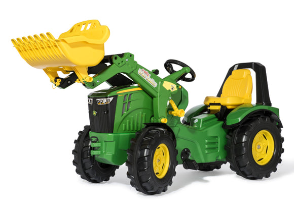 John Deere RollyX-Trac Children's Toy Pedal Tractor with Front Loader in classic John Deere green and yellow