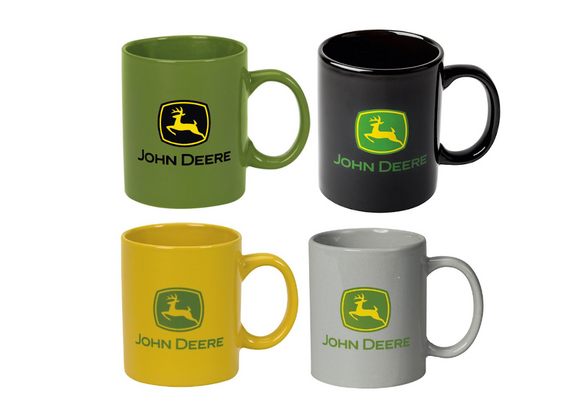 Collection of John Deere mugs