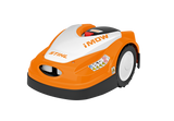 STIHL RMI 422 P Orange Robotic Mower with white and black details