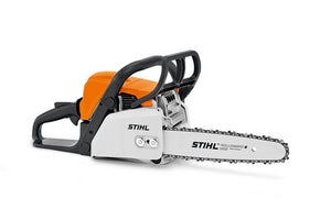 STIHL MS 180 Chainsaw in orange product image on white background