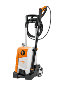 STIHL RE 110 Pressure Washer in orange with white and black details