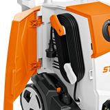 STIHL RE 110 Pressure Washer showing the dedicated area to tidy aware the wire