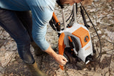 A man using the STIHL RE 120 Pressure Washer