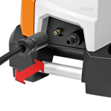 STIHL RE 120 Pressure Washer close up of the quick release feature available