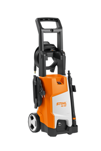 STIHL RE 90 Pressure Washer in Orange and white, with Black handle