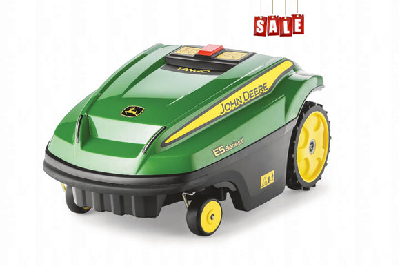 John Deere Tango E5 Series ii green and yellow robotic mower